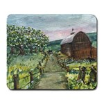 Amish Apple Blossoms -AveHurley ArtRevu.com- Large Mousepad