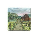Amish Apple Blossoms -AveHurley ArtRevu.com- Magnet (Square)
