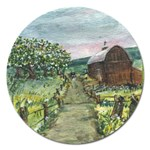 Amish Apple Blossoms - Ave Hurley - Magnet 5  (Round)