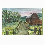 Amish Apple Blossoms -AveHurley ArtRevu.com- Postcard 4 x 6  (Pkg of 10)