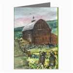 Amish Apple Blossoms -AveHurley ArtRevu.com- Greeting Card