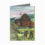 Amish Apple Blossoms -AveHurley ArtRevu.com- Mini Greeting Card