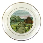 Amish Apple Blossoms -AveHurley ArtRevu.com- Porcelain Plate