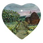 Amish Apple Blossoms - Ave Hurley - Heart Ornament (Two Sides)