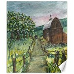 Amish Apple Blossoms -AveHurley ArtRevu.com- Canvas 8  x 10