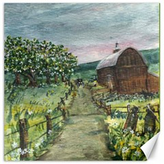 Amish Apple Blossoms 20 x20 Canvas - 1