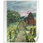 Amish Apple Blossoms -AveHurley ArtRevu.com- Canvas 20  x 24