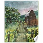 Amish Apple Blossoms -AveHurley ArtRevu.com- Canvas 11  x 14