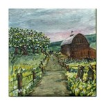 Amish Apple Blossoms -AveHurley ArtRevu.com- Face Towel