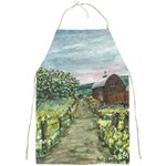 Amish Apple Blossoms -AveHurley ArtRevu.com- Full Print Apron