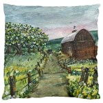 Amish Apple Blossoms -AveHurley ArtRevu.com- Large Cushion Case (One Side)