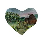 Amish Apple Blossoms -AveHurley ArtRevu.com- Standard 16  Premium Heart Shape Cushion