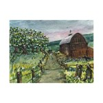 Amish Apple Blossoms -AveHurley ArtRevu.com- 6  x 8  Desktop Photo Plaque