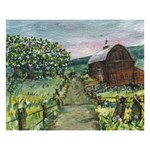 Amish Apple Blossoms -AveHurley ArtRevu.com- 8  x 10  Desktop Photo Plaque