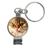 Cat Tongue Nail Clippers Key Chain