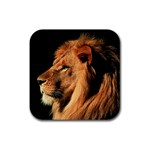 Lion Rubber Square Coaster (4 pack)
