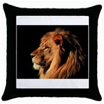 Lion Throw Pillow Case (Black)