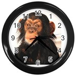 Monkey Wall Clock (Black)