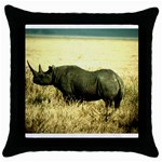 Rhino Throw Pillow Case (Black)
