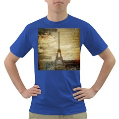 Elegant Vintage Paris Eiffel Tower Art Mens' T Shirt (colored)