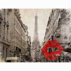 Elegant Red Kiss Love Paris Eiffel Tower Canvas 12  X 16  (unframed)
