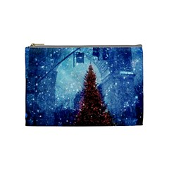 Elegant Winter Snow Flakes Gate Of Victory Paris France Cosmetic Bag (medium) by chicelegantboutique