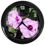 Morning Glories - Fran Hoffpauir - Wall Clock (Black)