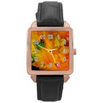 Flowers From My Heart To You   Sherri Nicholas   Rose Gold Leather Watch