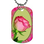 Pretty In Pink Roses Panel 3 Dog Tag (Two Sides)