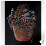 Flowers In Pot Fran Hoffpauir Canvas 12 x 12