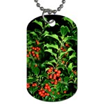 Christmas Holly 2 Dog Tag (One Side)