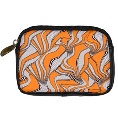 Foolish Movements Swirl Orange Digital Camera Leather Case by ImpressiveMoments