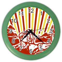 Octobe Revolution Wall Clock (color) by youshidesign