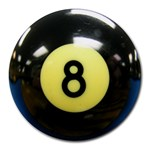 8 BALL Round Mousepad