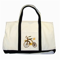 Tree Cycle Two Toned Tote Bag