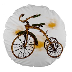 Tree Cycle 18  Premium Round Cushion