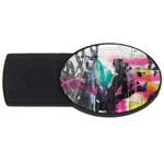Graffiti Grunge USB Flash Drive Oval (2 GB)
