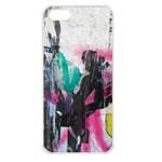 Graffiti Grunge Apple iPhone 5 Seamless Case (White)