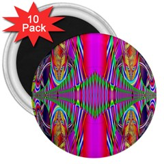 Modern Art 3  Button Magnet (10 Pack)