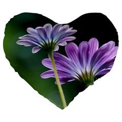 Flower 19  Premium Heart Shape Cushion by Siebenhuehner