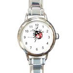 Lady Bug Round Italian Charm Watch