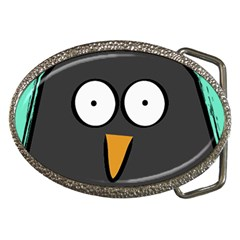 Penguin Close Up Belt Buckle (oval) by PaolAllen