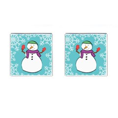 Snowman Cufflinks (square) by PaolAllen