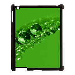 Green Drops Apple Ipad 3/4 Case (black) by Siebenhuehner
