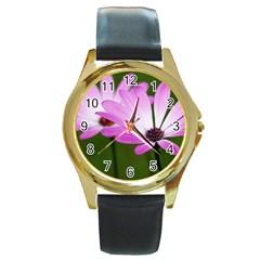 Osterspermum Round Metal Watch (gold Rim)  by Siebenhuehner