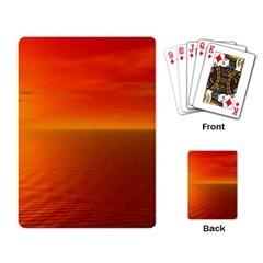 Sunset Playing Cards Single Design by Siebenhuehner