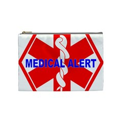 Medical Alert Health Identification Sign Cosmetic Bag (medium) by youshidesign
