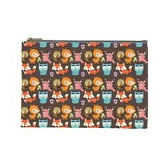 Woodland Animals Cosmetic Bag (large) by Mjdaluz