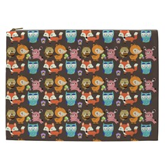 Woodland Animals Cosmetic Bag (xxl) by Mjdaluz