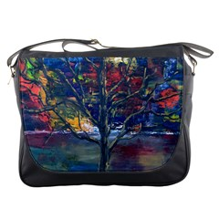 Stainglass Cliffs Messenger Bag by brewerstudios